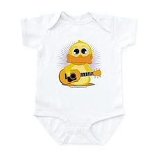 Acoustic Guitar Duck Infant Bodysuit