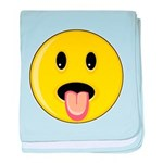 Smiley Face - Tongue Out Infant Blanket
