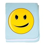 Smiley Face - Evil Grin Infant Blanket