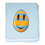 Smiley Easter Egg Infant Blanket