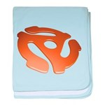 Orange 3D 45 RPM Adapter Infant Blanket