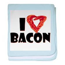 I Heart Bacon Infant Blanket