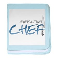 Blue Executive Chef Infant Blanket