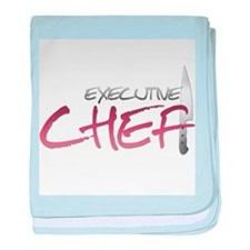Red Executive Chef Infant Blanket