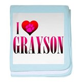 I Heart Grayson Infant Blanket