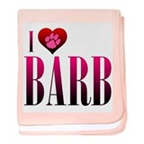 I Heart Barb Infant Blanket