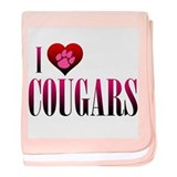 I Heart Cougars Infant Blanket