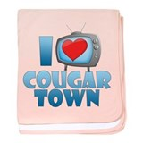 I Heart Cougar Town Infant Blanket