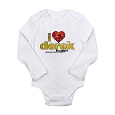 I Heart Derek Hough Long Sleeve Infant Bodysuit