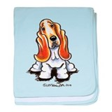 Basset Sit Pretty baby blanket