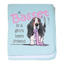 Basset Girls Friend baby blanket