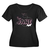 Plane Jane F-22 Women's Plus Size Scoop Neck Dark