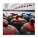 Curling Club Stones Tile Coaster