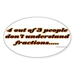 FRACTION Sticker (Oval 50 pk)