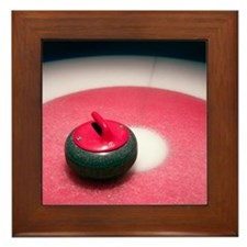 Curling Stone Framed Tile
