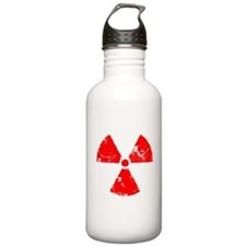 Distressed Red Radiation Symb Water Bottle