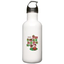 12 Dogs of Christmas Water Bottle