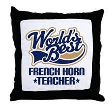 French Horn Teacher Throw Pillow