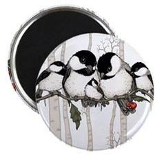 Chickadee Family Magnet