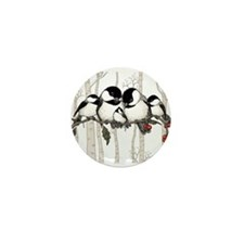 Chickadee Family Mini Button