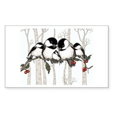 Chickadee Family Decal