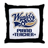 Piano Teacher Throw Pillow