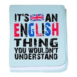 English Thing baby blanket