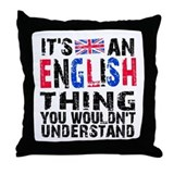 English Thing Throw Pillow