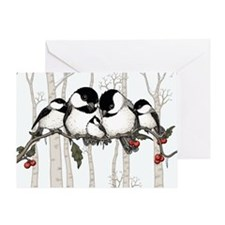 Chickadee Family Greeting Card