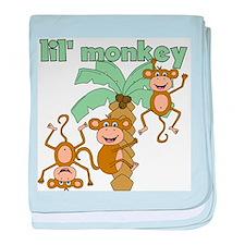 Lil' Monkey baby blanket