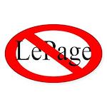 Oval Bumper Sticker Against Paul LePage