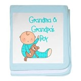 Grandma and Grandpa's Boy baby blanket
