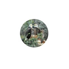 Bald Eagles in the Sun Mini Button