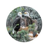 "Bald Eagles in the Sun 3.5"" Button"