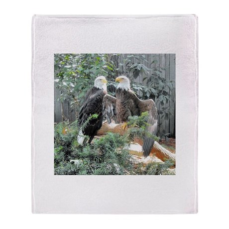 Bald Eagles in the Sun Throw Blanket