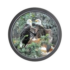 Bald Eagles in the Sun Wall Clock