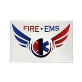 Flying Fire & EMS Rectangle Magnet