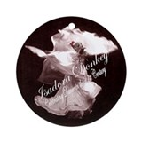 Isadora Donkey Fan Club Ornament (Round)