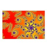 Purple Swirls Postcards (Package of 8)