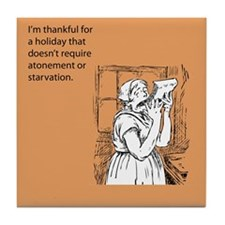 Thankful Holiday Tile Coaster