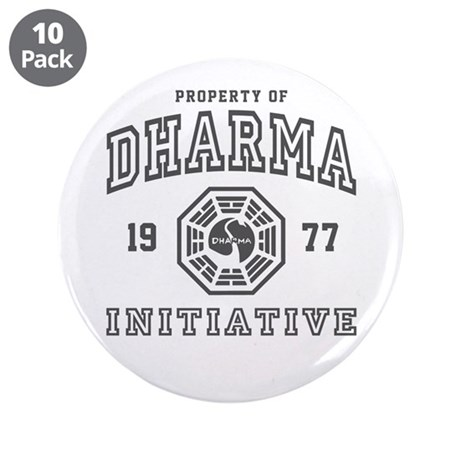 "Property of Dharma 77 3.5"" Button (10 pack)"