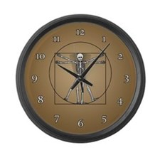 Vitruvian Man Skeleton Large Wall Clock