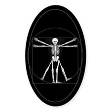 Vitruvian Man Skeleton Decal