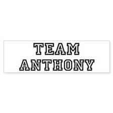 Team Anthony Bumper Bumper Sticker