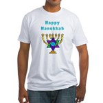Happy Hanukkah Fitted T-Shirt