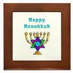 Happy Hanukkah Framed Tile