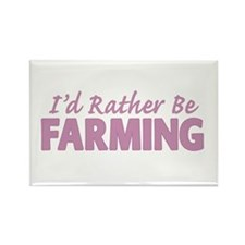 Id Rather Be Farming SOLID Rectangle Magnet