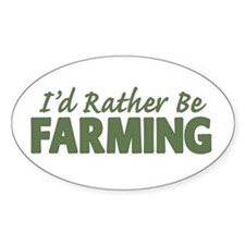 Id Rather Be Farming SOLID Decal