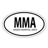 MMA Oval decal Decal