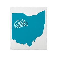 State Ohio Throw Blanket